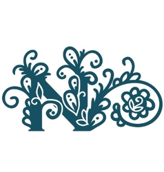 Isolated stylized calligraphic vector image vector image