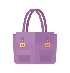 Ladies handbag in flat style female bag isolated vector