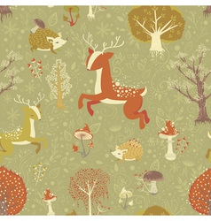 Magic forest seamless pattern vector image vector image