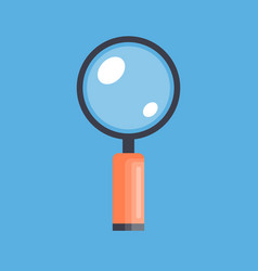 magnifying glass isolated icon vector image
