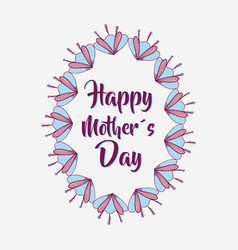 Mother day flowers symbol icon vector