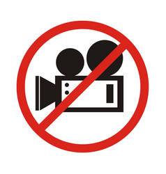 no video camera sign vector image vector image