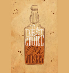Poster whiskey best choice craft vector