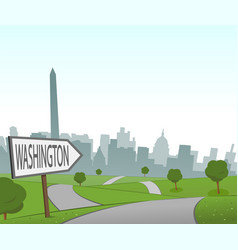 road to washington vector image vector image