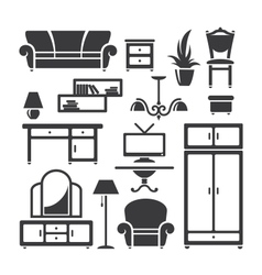 Room furniture vector image vector image