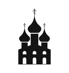 Russian orthodox church simple icon vector