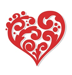 swirly heart vector image