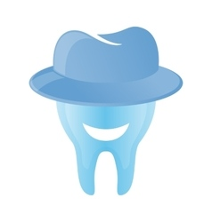 Tooth logo in hat vector image vector image