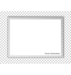 White sheet of paper background vector image
