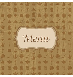 Wood Background With Menu vector image vector image