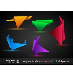 Origami triangle style speech banner vector