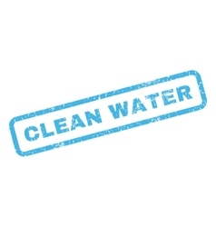 Clean water rubber stamp vector