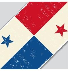 Panama grunge flag vector image