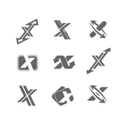 abstract icons letter x vector image
