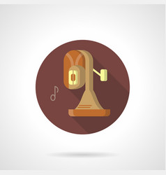 Brass band instrument flat round icon vector