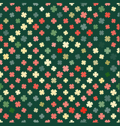 Abstract pattern clover retro vector