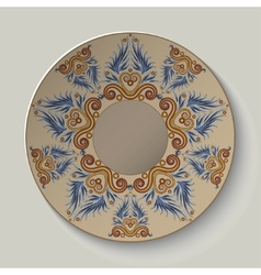 Plate with an ornament in the ancient greek style vector
