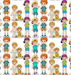 Seamless young boys vector image