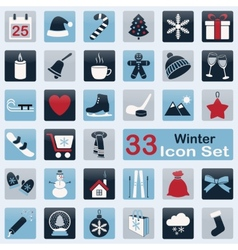 Set of winter icons vector