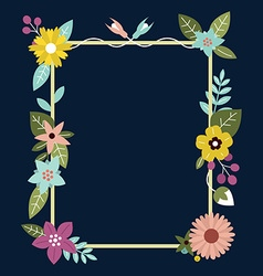 Frame with flowers can be used as creating card vector