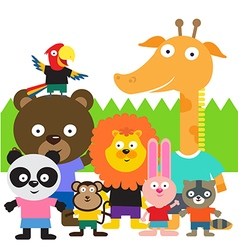 Cute animal kids vector
