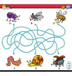 Educational maze task for kids vector