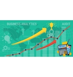 Background business analytics vector