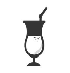 Drink glass cup vector