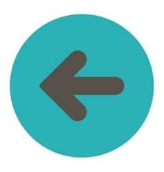 Arrow left flat grey and cyan colors round button vector