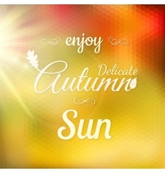 Autumn modern typographical background eps 10 vector