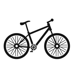 Bicycle icon simple style vector