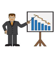 Cartoon businessman doing a presentation vector image vector image
