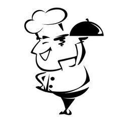 Cheerful chef vector