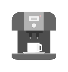 Coffee machine icon on white background vector image