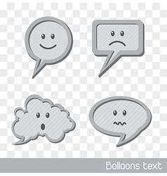 Cute balloons text vector