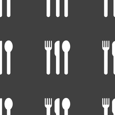 fork knife spoon icon sign Seamless pattern on a vector image vector image