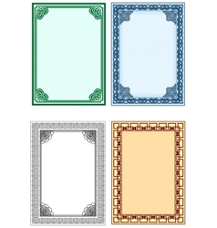 Frame for design of certificates and diplomas vector