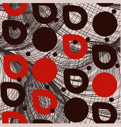 geometric abstract seamless pattern circles drops vector image