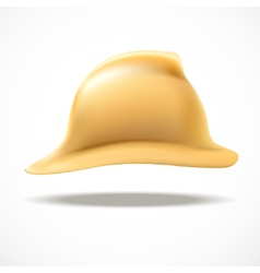 Gold fireman helmet side view vector