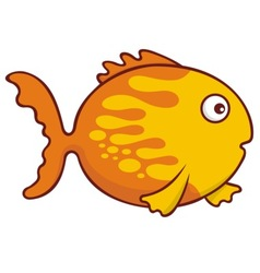 goldfish cartoon vector image vector image