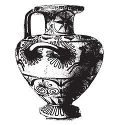 Greek vase is a fully decorated vintage engraving vector