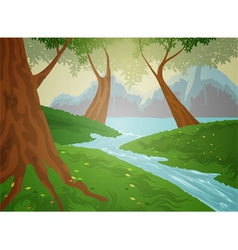 Green forest nature background vector