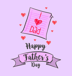Happy father day art vector