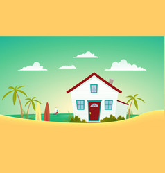 house of the beach vector image vector image