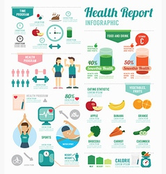 Infographic health sport and wellness template vector