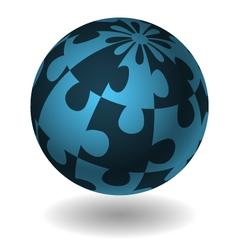 jigsaw design concept element vector image vector image