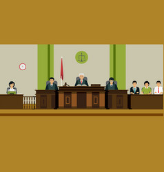 judge room vector image