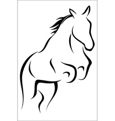 Leaping horse vector