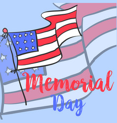 Memorial day hand draw style vector