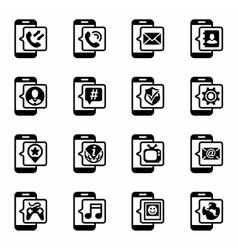 Mobil icon set vector image